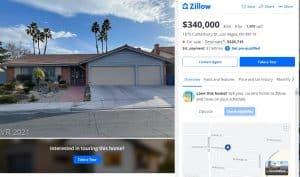דוגמא לבית המוצע למכירה באתר זילו (Zillow)