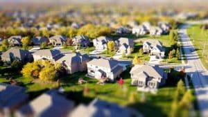 בתים באחת השכונות בארהב